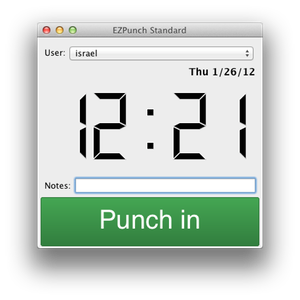 EZPunch Main Window